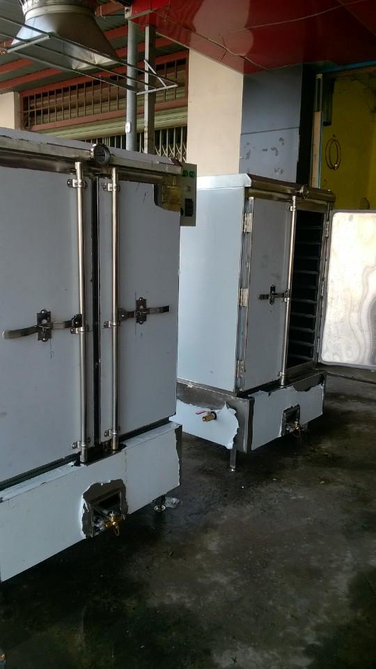 Tủ hấp cơm 100kg sử dụng điện & gas